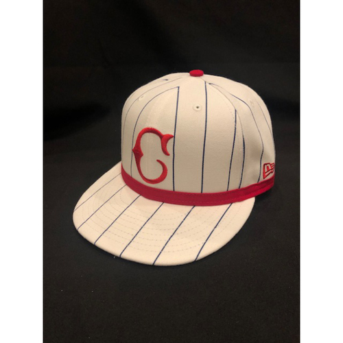 Photo of Freddie Benavides -- Game-Used Cap -- 1919 Throwback Game -- Nationals vs. Reds on June 2, 2019 -- Size 7 1/8