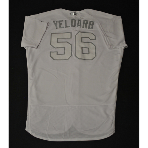 "Photo of Brad ""YELDARB"" Keller Kansas City Royals Game-Used 2019 Players' Weekend Jersey"
