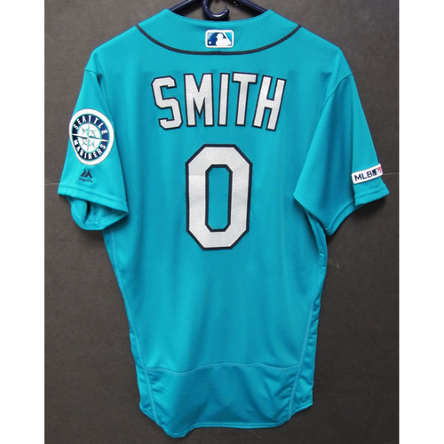 Photo of Mallex Smith Game-Used Green Jersey - 6-5-2019 - Size 40