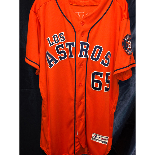 Jose Urquidy 2019 Team Issued Orange Alternate Los Astros Jersey (Sz 46)