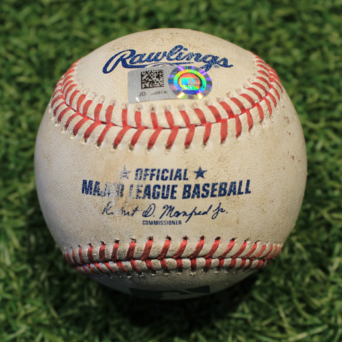 Photo of Game-Used Baseball: Luis Robert 11th Career Walk & Danny Mendick 35th Career Hit  (CWS @ KC 9/3/20)