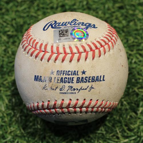 Game-Used Baseball: Luis Robert 11th Career Walk & Danny Mendick 35th Career Hit  (CWS @ KC 9/3/20)