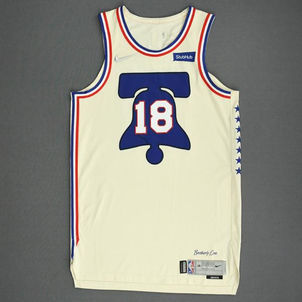 Image of Shake Milton - Philadelphia 76ers - Game-Worn Earned Edition Jersey - 2020-21 NBA Season
