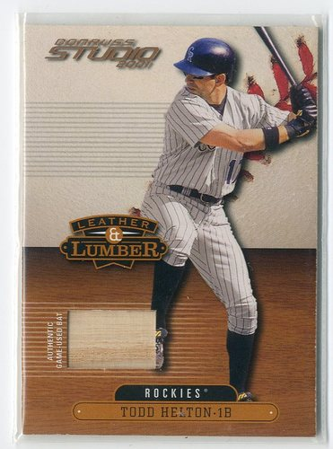 Photo of 2001 Studio Leather and Lumber #LL10 Todd Helton