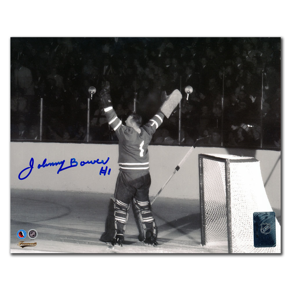 Johnny Bower Toronto Maple Leafs VICTORY Autographed 8x10