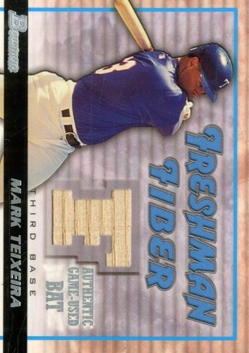 Photo of 2002 Bowman Draft Freshman Fiber #MT Mark Teixeira Bat