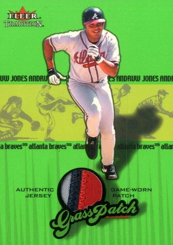 Photo of 2002 Fleer Tradition Update Grass Patch #6 Andruw Jones