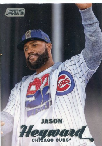 Photo of 2017 Stadium Club #63B Jason Heyward short  print unbuttoned jersey