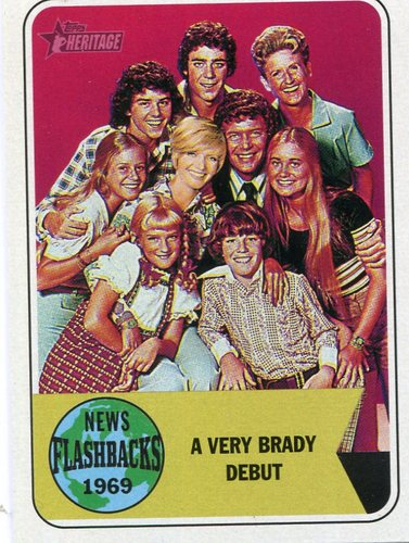 Photo of 2018 Topps Heritage News Flashbacks #NF9 The Brady Bunch