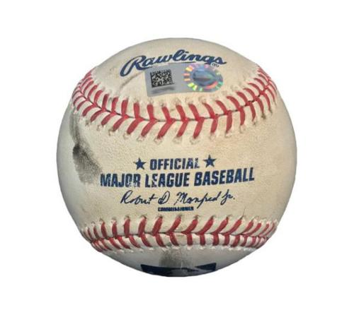 Photo of Game-Used Baseball from Pirates vs. Diamondbacks on 5/26/16 - Josh Harrison 2 RBI Double