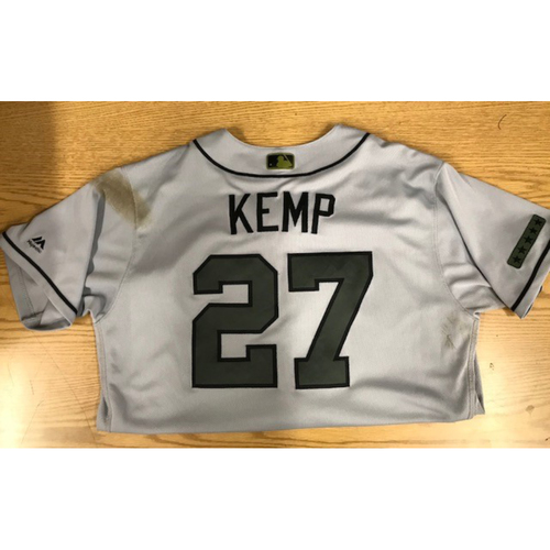 Photo of Matt Kemp Game-Used 2017 Memorial Day Jersey