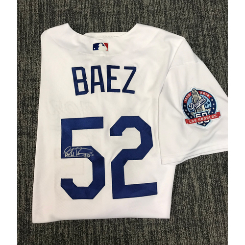 Photo of Kirk Gibson Foundation Auction: Pedro Baez 2018 Game-Used Autographed Los Angeles Dodger Jersey