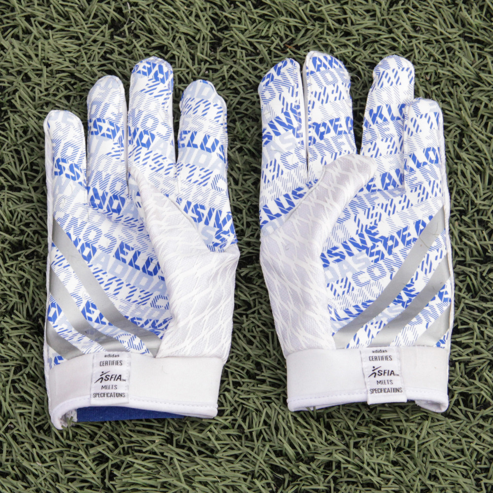 Nyheim Hines Indianapolis Colts Event-Worn 2018 NFLPA Rookie Premiere White Adidas Gloves