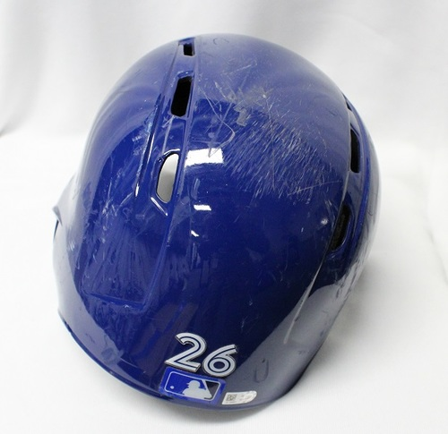 Photo of Authenticated Game Used Helmet - #26 Yangervis Solarte (Apr 3, 2018: 2-for-4 with 1 Double, 1 Run and 1 BB). Size 7 3/8.