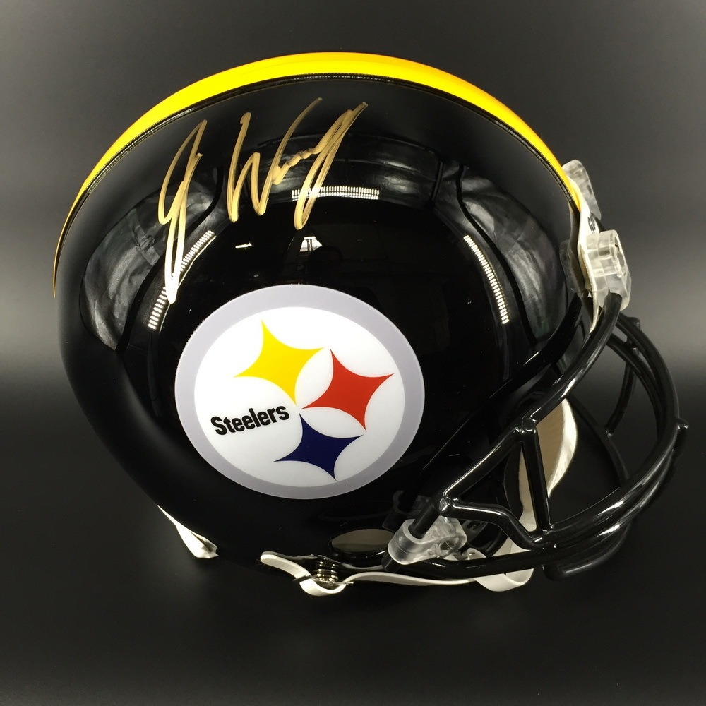 NFL - STEELERS WR JAMES WASHINGTON SIGNED STEELERS PROLINE HELMET