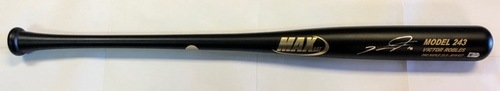 Photo of Victor Robles Autographed Game Model Max Bat