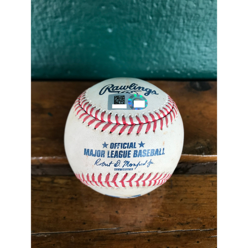Cardinals Authentics: Game Used Baseball Pitched by Andrew Miller to Kris Bryant (Force Out RBI)