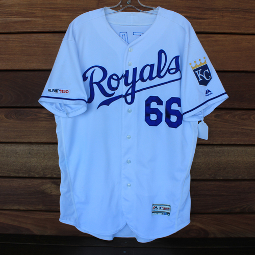 Photo of Game-Used Jersey: Ryan O'Hearn 1st Career Walk-Off Home Run (Size 48 - DET @ KC - 9/3/19)