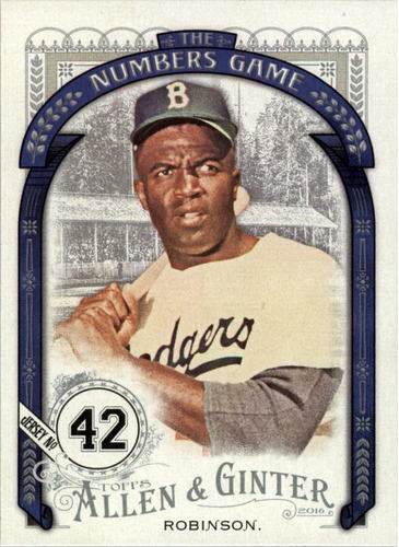 Photo of 2016 Topps Allen and Ginter The Numbers Game #NG41 Jackie Robinson