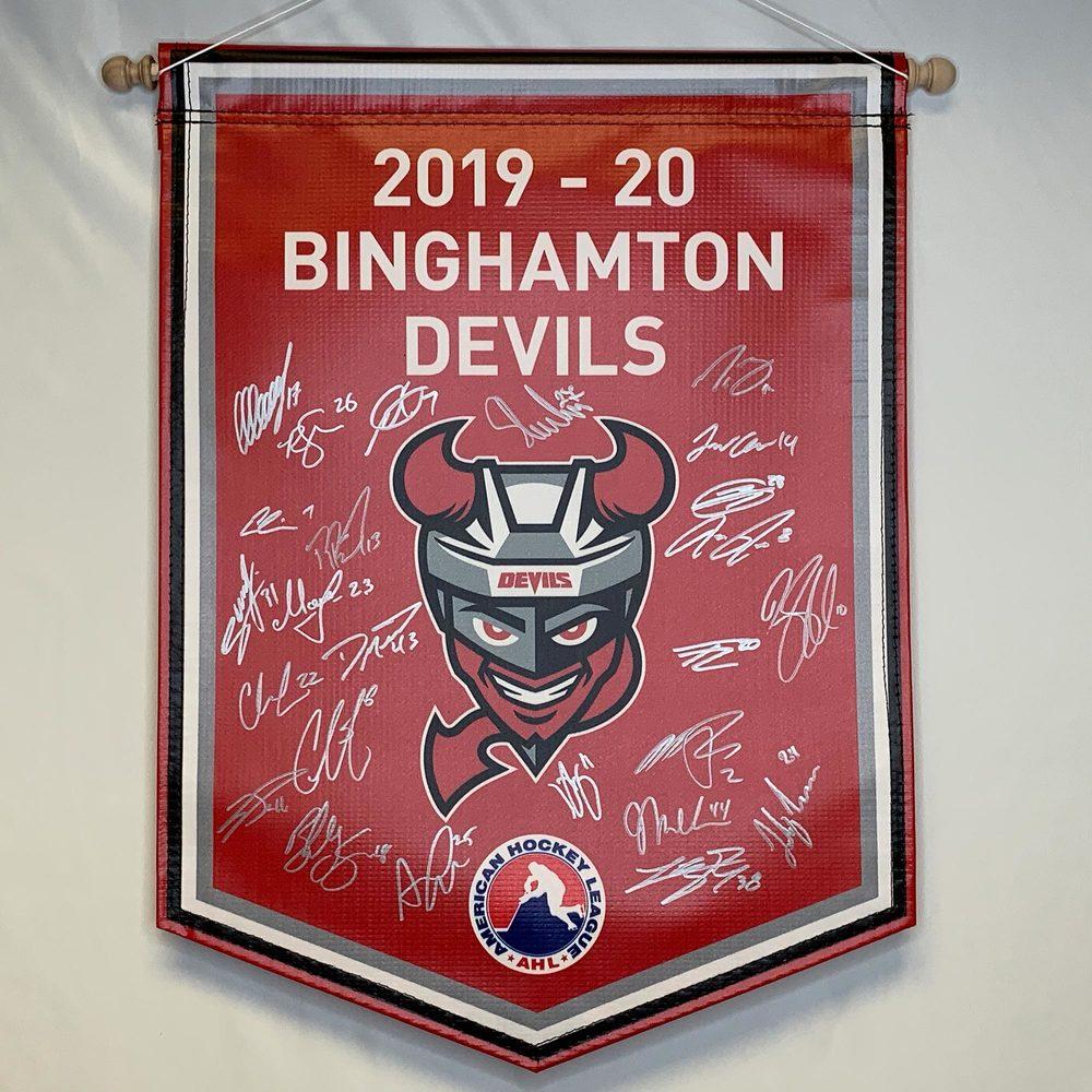 2019-20 Binghamton Devils Team-Signed Banner