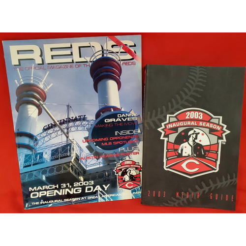 Photo of 2003 Cincinnati Reds Media Guide and Opening Day Program