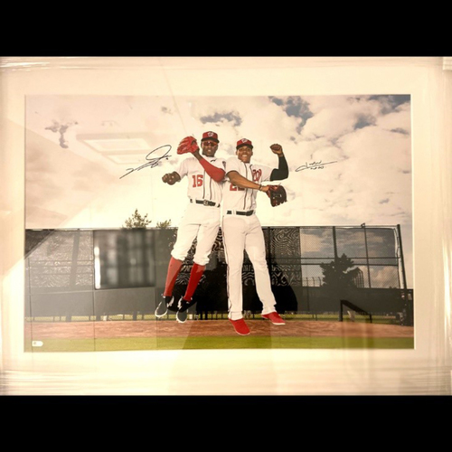 Photo of Washington Nationals Philanthropies Fall Ball Auction: Juan Soto & Victor Robles Signed Photo