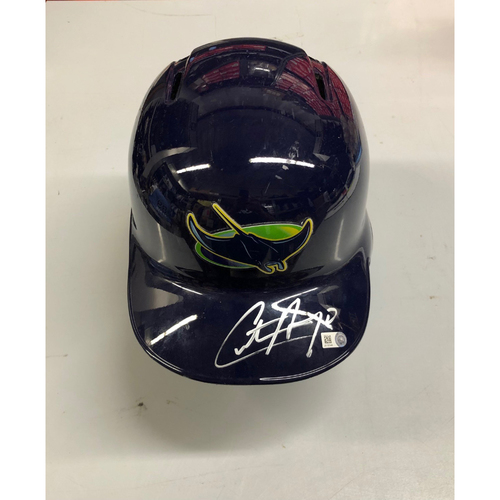 Photo of Autographed Devil Rays Helmet: Christian Arroyo