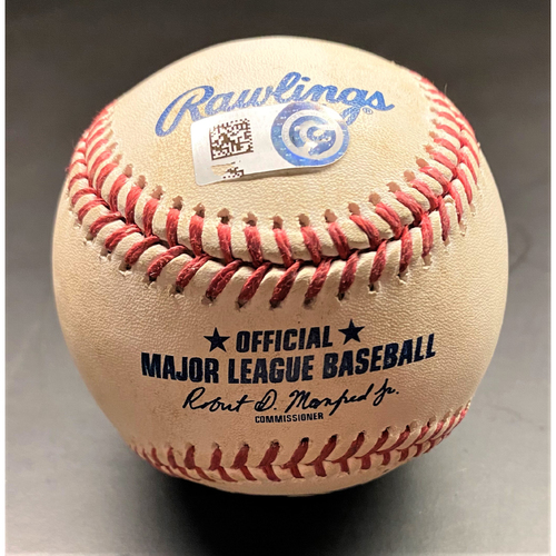 Photo of Game-Used Baseball:  Jeimer Candelario Detroit Tigers Double (MLB AUTHENTICATED)