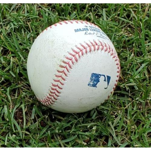 Photo of 2021 Game-Used Baseball - Bryce Harper RBI Triple