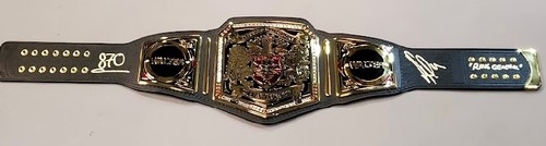 Walter SIGNED NXT United Kingdom Championship Replica Title w/ Side Plates