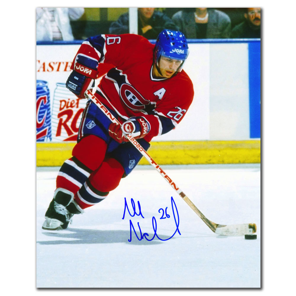 Mats Naslund Montreal Canadiens RUSH Autographed 8x10