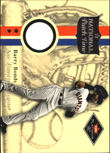 Photo of 2001 Fleer Platinum National Patch Time #6 Barry Bonds S2