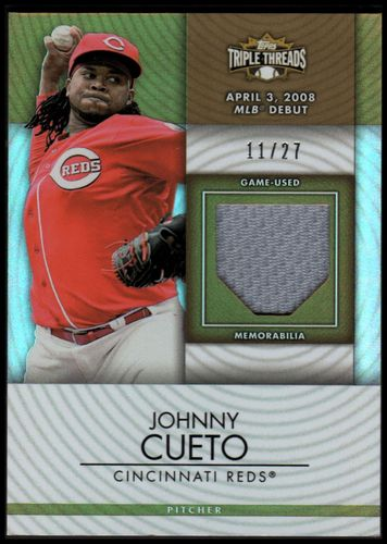 Photo of 2012 Topps Triple Threads Unity Relics Sepia #UR178 Johnny Cueto