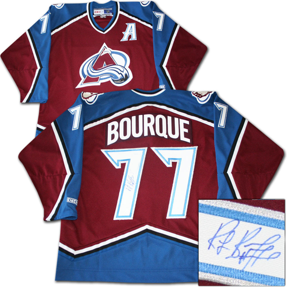 hot sale online 0b97e 8fd19 Ray Bourque Autographed Colorado Avalanche Jersey - NHL Auctions