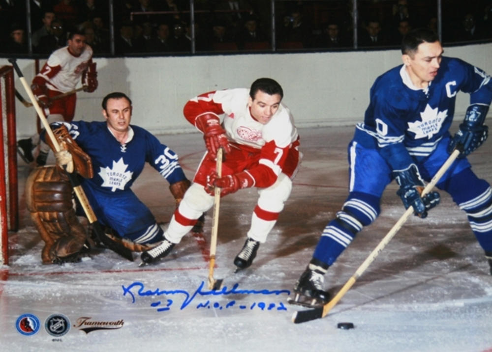 Norm Ullman - Signed 8x10 - Canadiens vs Leafs