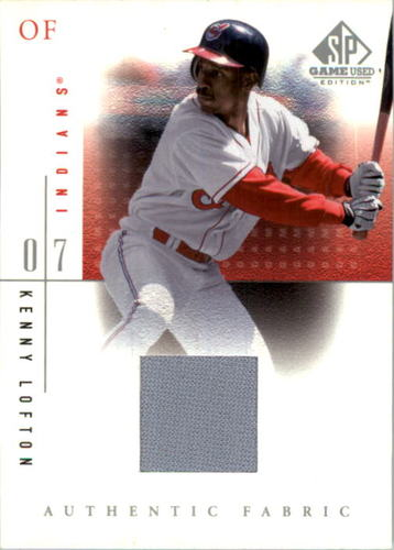Photo of 2001 SP Game Used Edition Authentic Fabric #KL Kenny Lofton