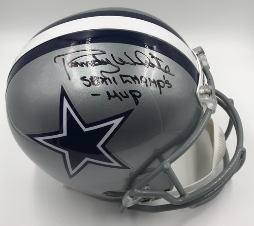 "Photo of Randy White ""SB XII Champs - MVP"" Autographed Dallas Cowboys Football Helmet"