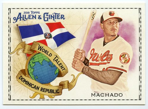 Photo of 2018 Topps Allen and Ginter World Talent #WT19 Manny Machado