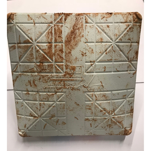 Photo of Game-Used Base - NLDS Game 3, 10/7/18  - 2nd Base used during the 4th and 5th Innings