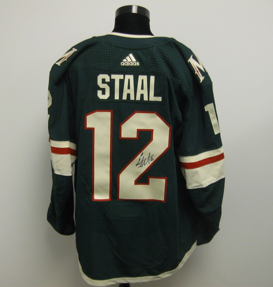 Eric Staal Autographed Event Worn Jersey from 2018 Player Media Tour - Minnesota Wild