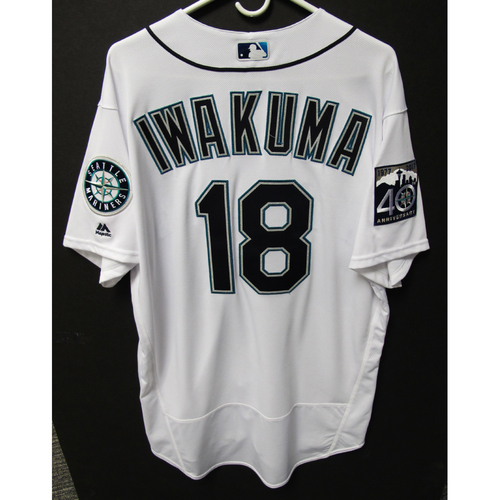 Photo of Seattle Mariners Hisashi Iwakuma Team Issued Home White Jersey