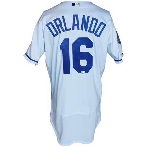 Photo of Autographed White World Series Jersey: Paulo Orlando