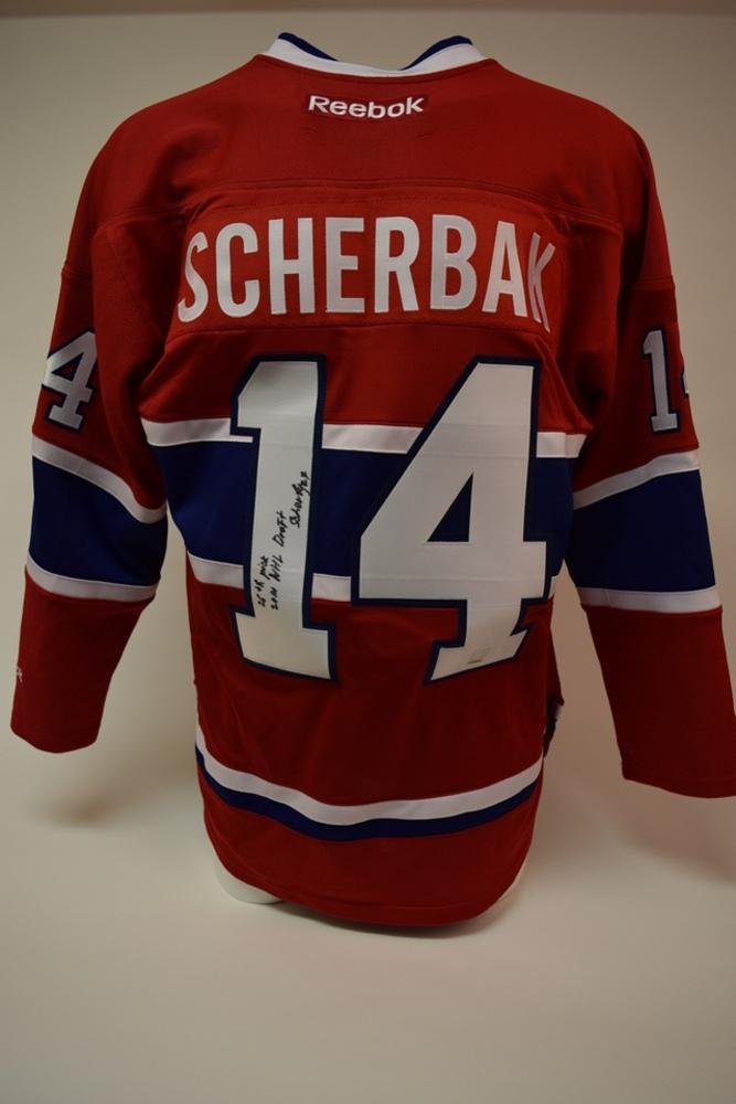Chandail des Canadiens de Montréal autographié par Nikita Scherbak (repêchage 2014) | Nikita Scherbak (2014 Draft) autographed Montreal Canadiens jersey