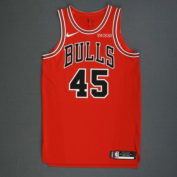 Denzel Valentine - Chicago Bulls - Mexico Games - Game-Issued Icon ...