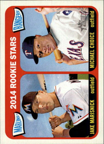 Photo of 2014 Topps Heritage #361 Michael Choice RC/Jake Marisnick RC