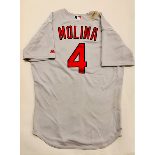 1b8547f7 2019 Mexico Series Game Used Jersey - Yadier Molina Size 46 (St. Louis  Cardinals