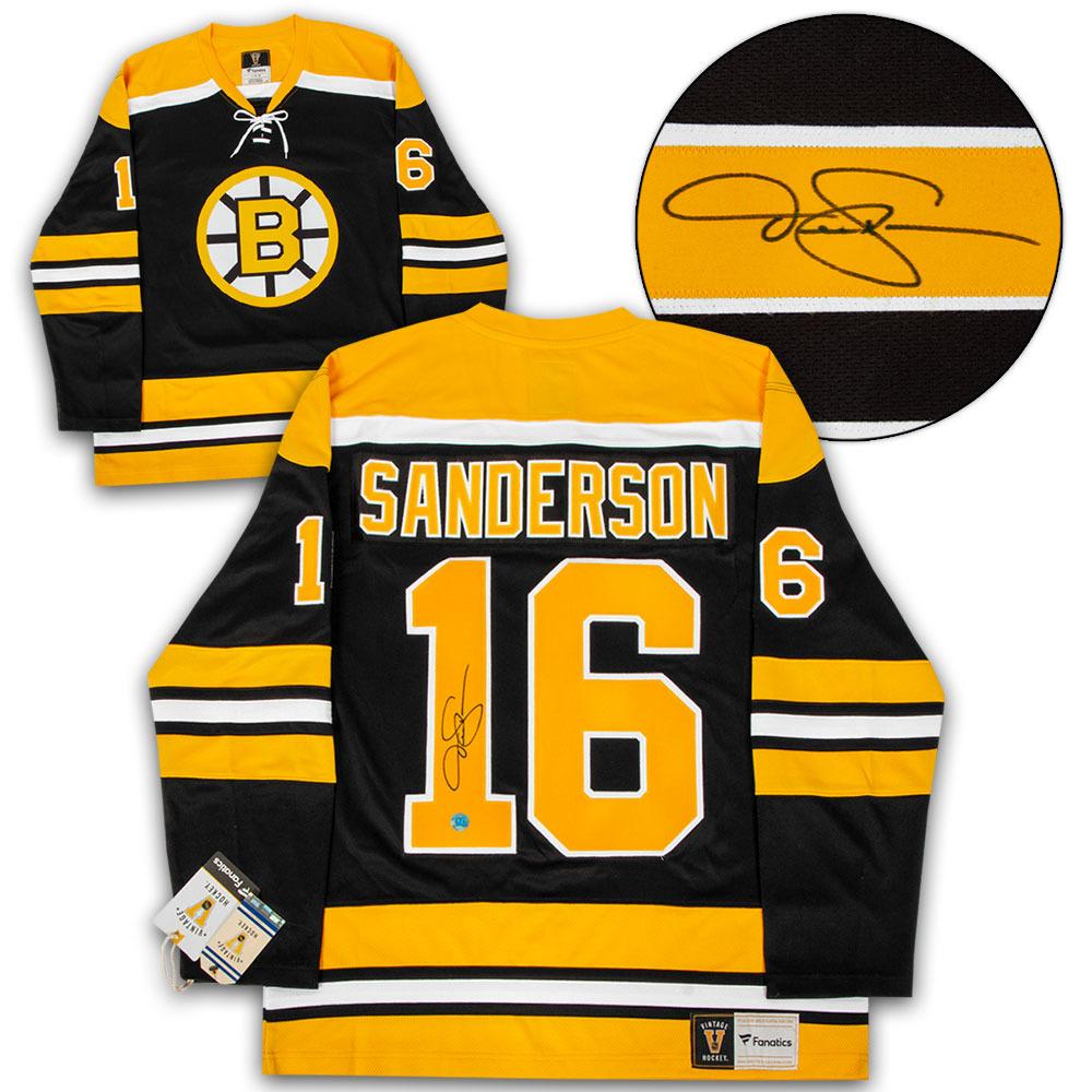 Derek Sanderson Boston Bruins Autographed Cup Era Fanatics Vintage Hockey Jersey