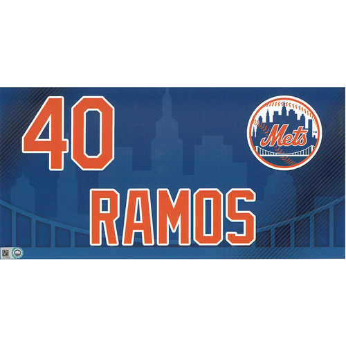 Photo of Wilson Ramos #40 - Game-Used Locker Nameplate - Mets vs. Nationals - 4/4/19