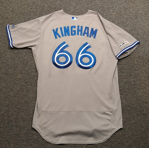 Photo of Authenticated Game Used Jersey: #66 Nick Kingham (Jun 15, 19 vs HOU: 2 IP, 5 Hits, 2 ER, 1 K). Size 48