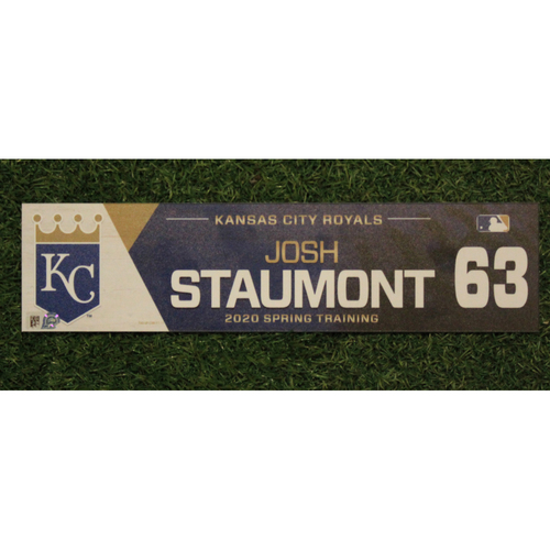 Photo of Game-Used Spring Training Locker Tag: Josh Staumont #63
